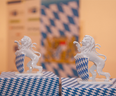 Bavarian porcelain lion
